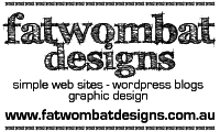 Website developed by Fat Wombat Designs